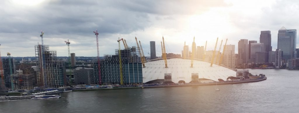 View of the O2 from Emirates Air Line