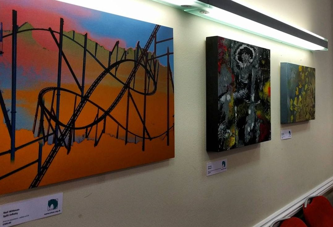 artworks on the wall at 44 Hallam Street, London art exhibition