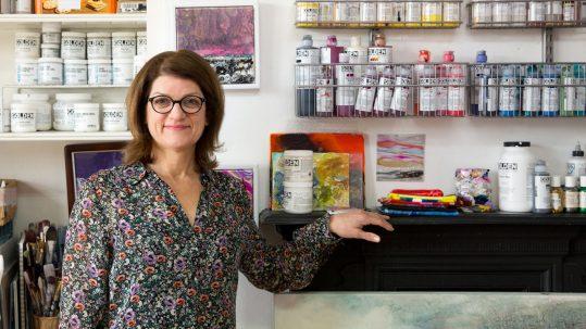 Laura Fishman in her studio space