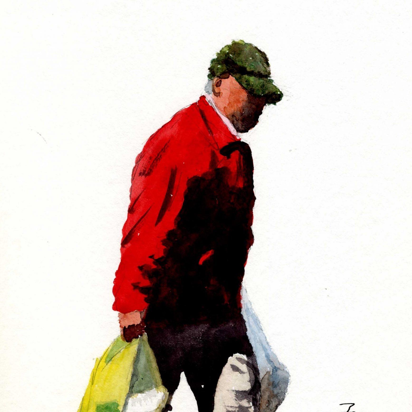 Shopper - Watercolour - 28x19cm